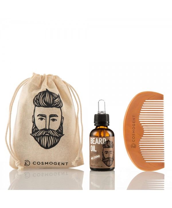 Cosmogent Mr. Cosmo Bundle - Beard Oil 30ml & Comb