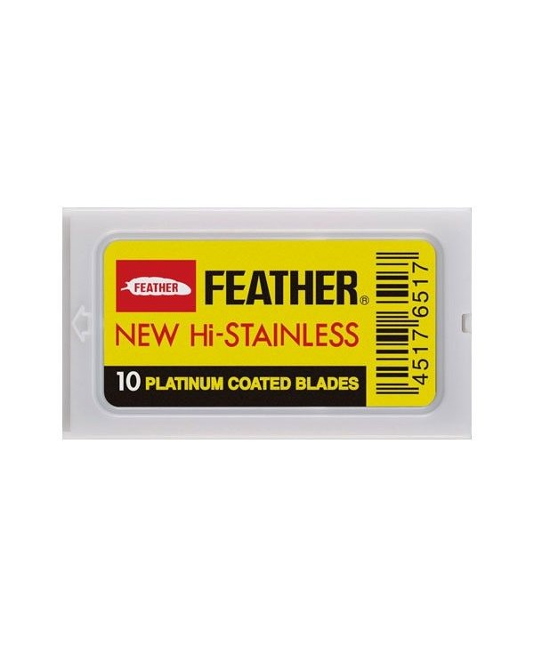 Feather Platinum Coated Λεπίδες Ξυρίσματος (10τμχ)