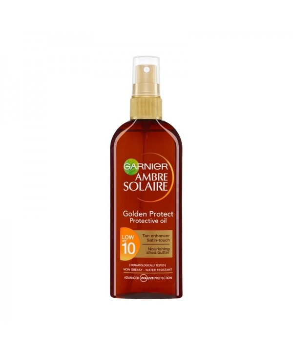 Garnier Ambre Solaire Αντηλιακό Λάδι Golden Protect SPF10 150ml