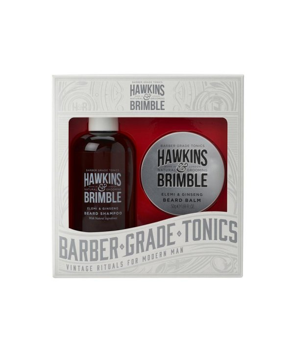 Hawkins & Brimble Beard Set - Beard Shampoo 250ml & Balm 50ml