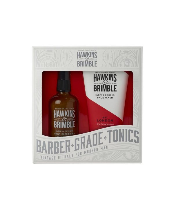 Hawkins & Brimble Facecare Set - Face Wash 150ml & Moisturiser 100ml