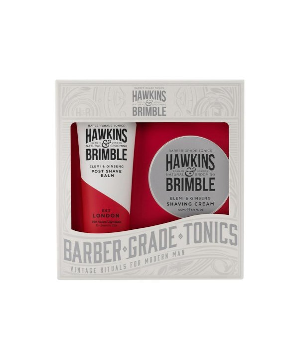 Hawkins & Brimble Grooming Set - Shaving Cream 100ml & After Shave Balm 125ml