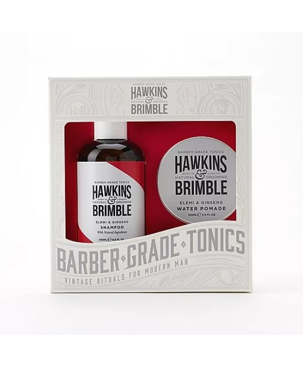 Hawkins & Brimble Haircare Set - Shampoo 250ml & Water Pomade 100ml