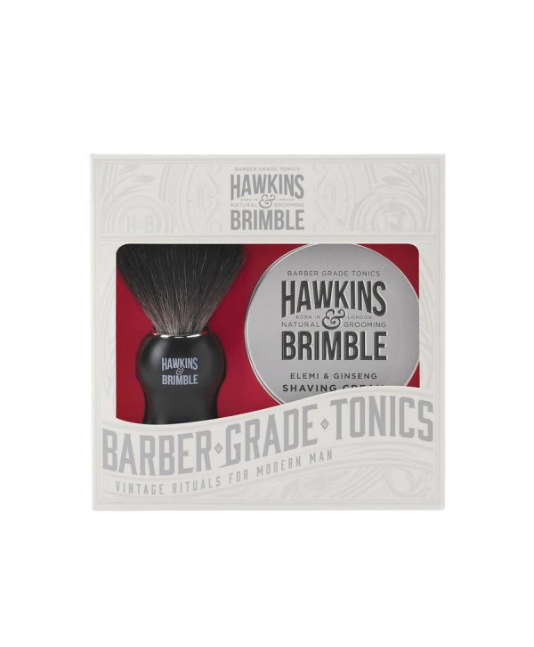 Hawkins & Brimble Shaving Set - Shaving Cream 100ml & Brush
