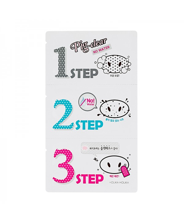Holika Holika Pig Clear 3-Step Kit (No Water) 8g