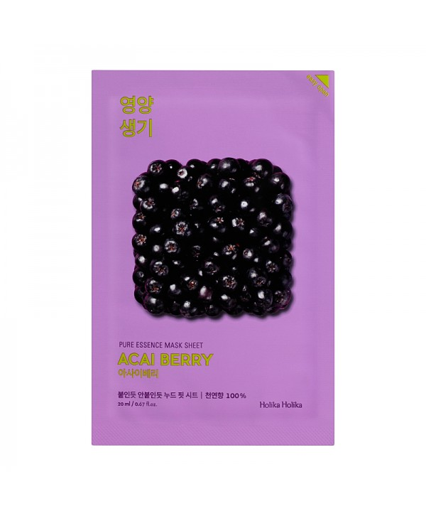 Holika Holika Pure Essence Mask Sheet - Acai Berry 20ml
