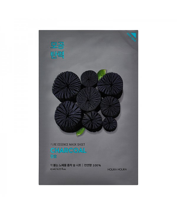 Holika Holika Pure Essence Mask Sheet - Charcoal 20ml