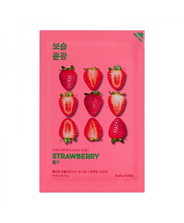 Holika Holika Pure Essence Mask Sheet - Strawberry 20ml