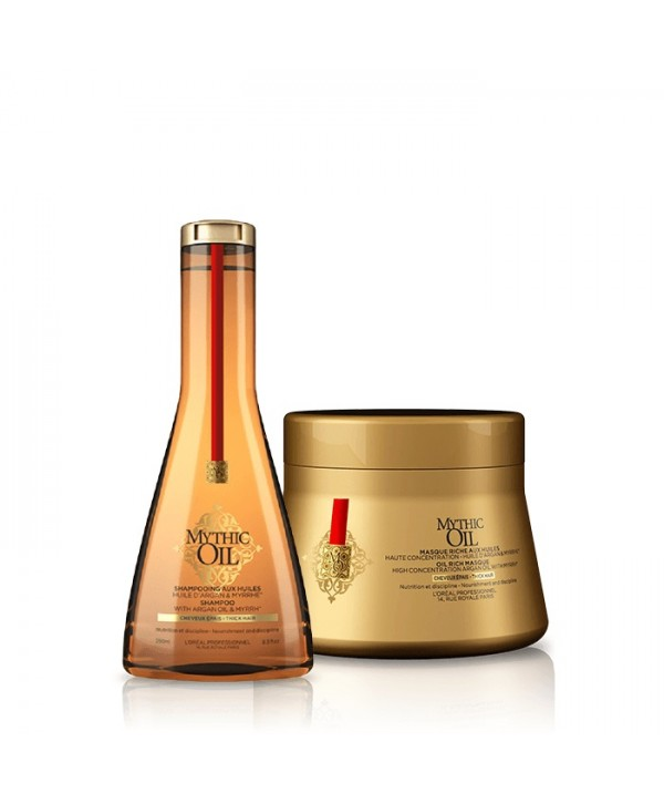 L'Oréal Professionnel Set Mythic Oil για Χοντρά Μαλλιά (Shampoo 250ml & Μάσκα 200ml)