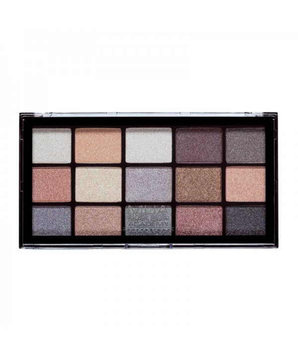 MUA Eyeshadow Palette Pro 15 Shade - Frosted Gleam 12g