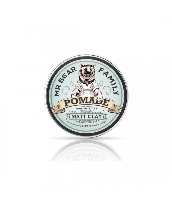 Mr Bear Family Pomade - Matt Clay 100ml