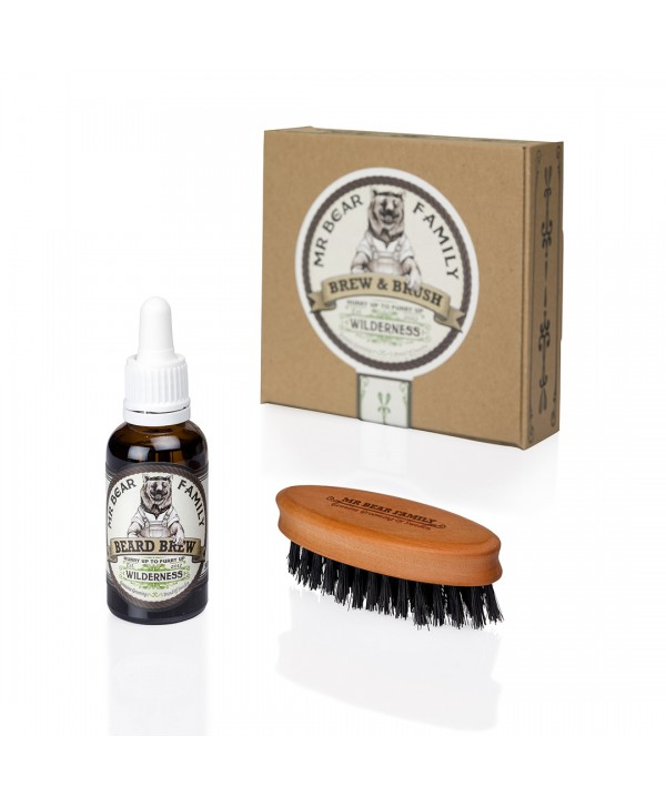 Mr Bear Family Special Kit - Beard Brew Wilderness 30ml & Brush