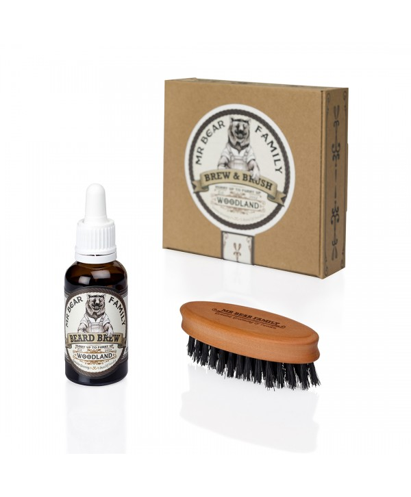 Mr Bear Family Special Kit - Beard Brew Woodland 30ml & Brush