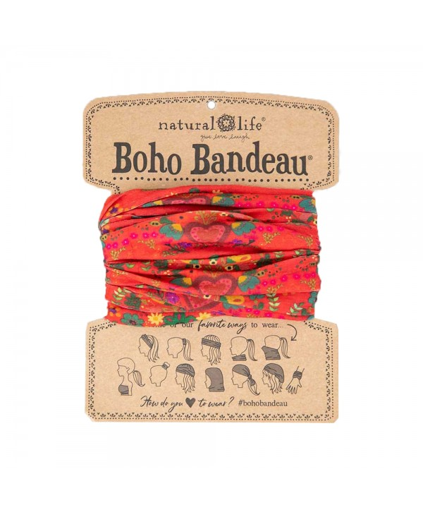 Natural Life Κορδέλα Μαλλιών Boho Red Hearts