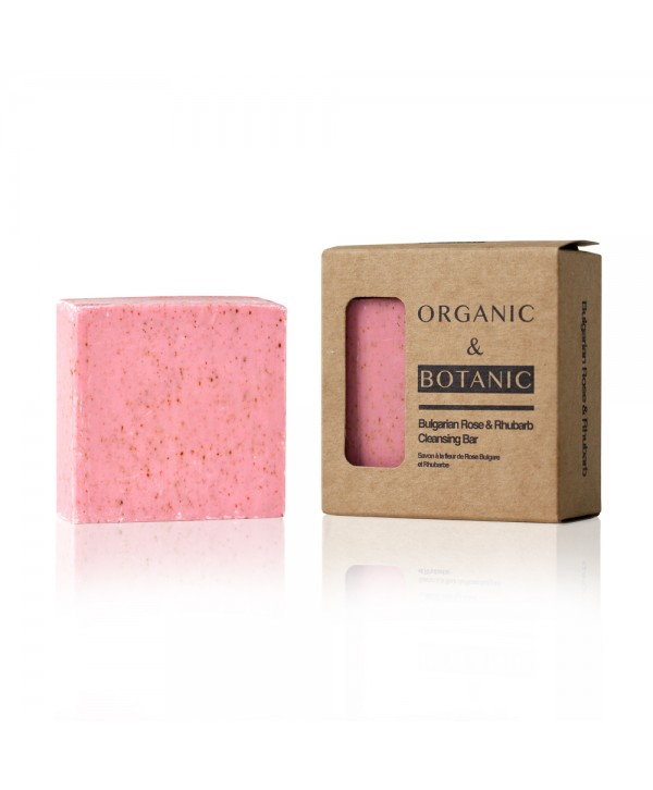 Organic & Botanic Bulgarian rose & Rhubarb Cleansing Bar 70g